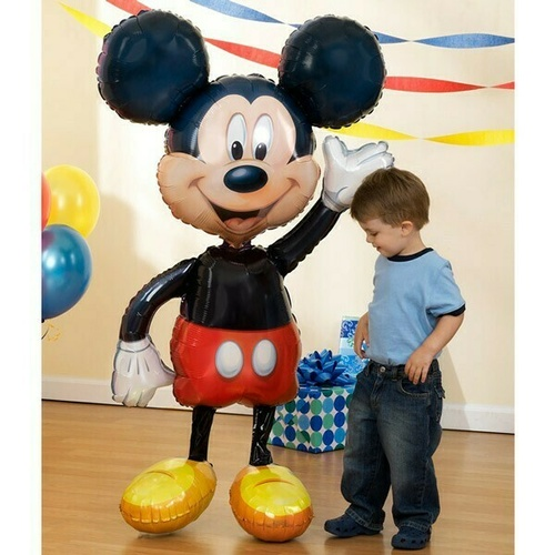 Airwalker Mickey Mouse Foil Balloon (96cm x 132cm)