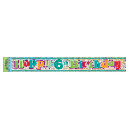 Happy 6th Prismatic Banner 12ft