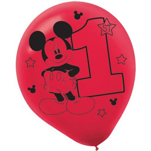 Mickey Fun To Be One Printed 30cm 15 Pack Latex Balloons