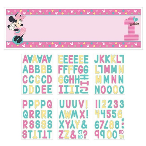 Minnie Fun To Be One Personalized Giant Banner Kit