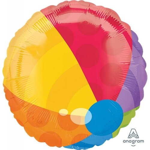 45cm Beach Ball Foil Balloon