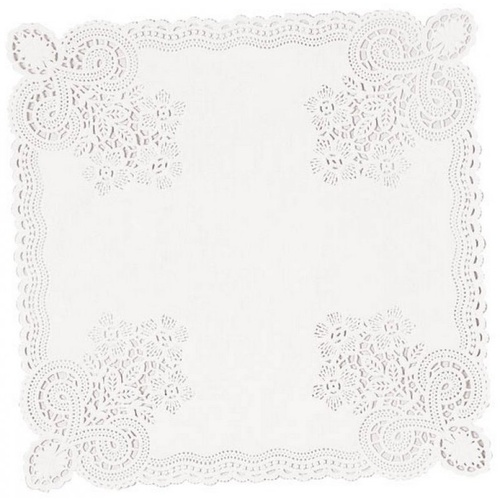 26cm Doilies White Square 20 Pack