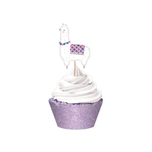 Llama Fun Glittered Cupcake Kit