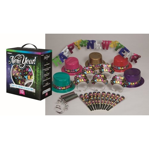 New Years Party Kit For 10 - Asst Colours