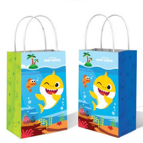 Baby Shark Paper Kraft Bags 8 Pack