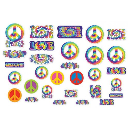 Cutouts Tie Dye Mega Value Pack Feeling Groovy 30 Pack