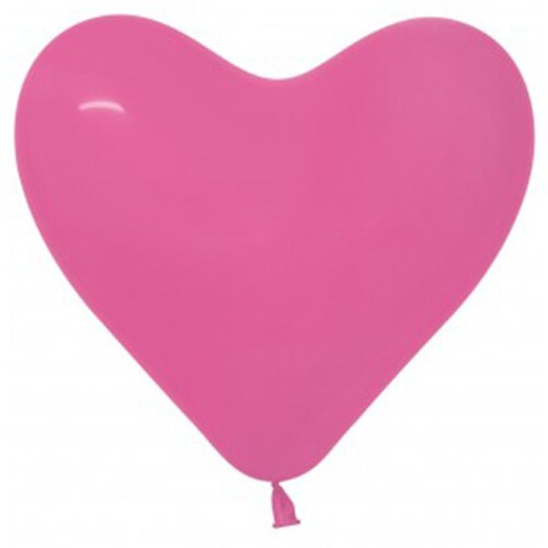 15cm Hearts Fashion Fuchsia Latex Balloons 50 Pack