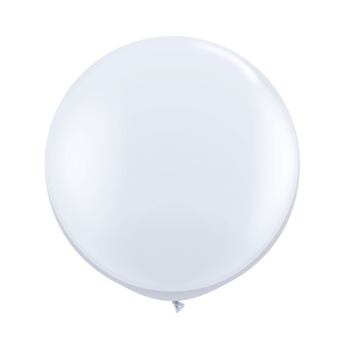 90cm standard White Latex Balloons 2 Pack