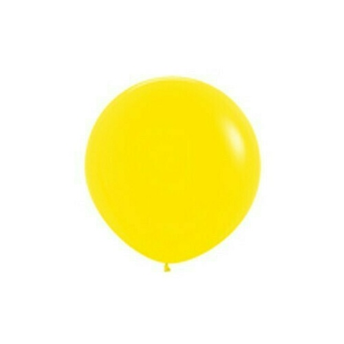 90cm standard Yellow Latex Balloons 2 Pack