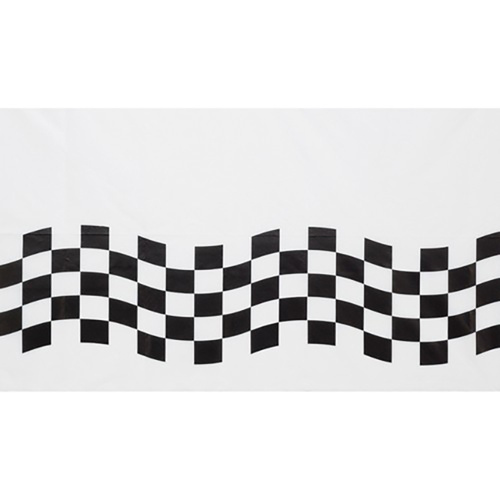 Black & White Check Table Cover Paper (54cm x 102cm)