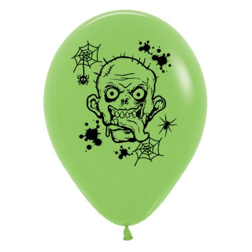 30cm Zombie Horror Fashion Lime Green Latex Balloons 25 Pack