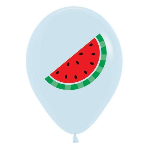 Sempertex 30cm Watermelon on Fashion White Latex Balloons 12 Pack