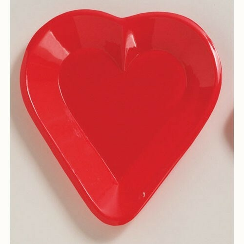Card Night Tray Mini Snack Heart