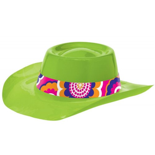 Feeling Groovy Lime Cowboy Hat