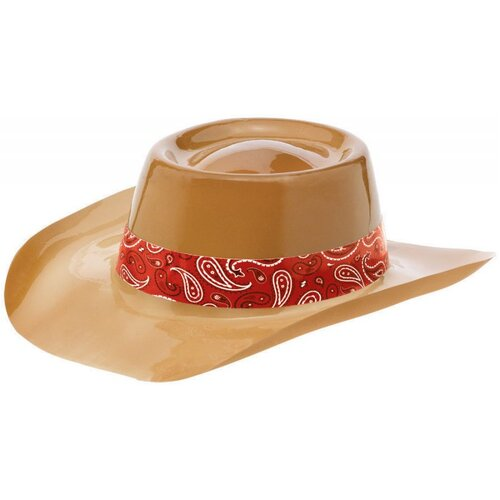 Western Plastic Cowboy Hat with Band