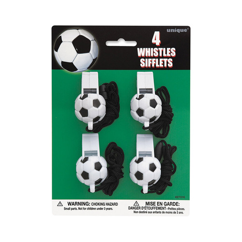 3D Soccer Ball 4 Whistles
