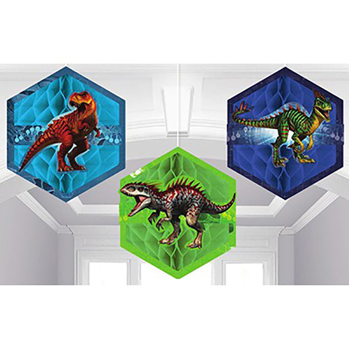 Jurassic World Honecomb Decorations (18cm) 3 Pack