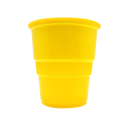 Sunflower Yellow Plastic Cups 270ml 25 Pack