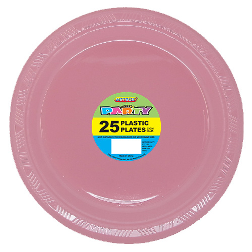Lovely Pink 25 x 9 Plastic Plates