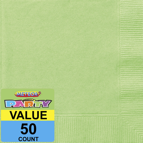 Apple Green Beverage Napkins 2ply 50 Pack