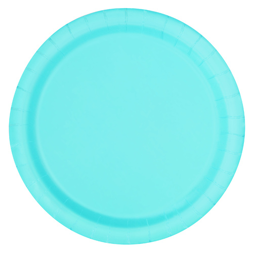 Powder Blue 23cm 16 Pack Paper Plates
