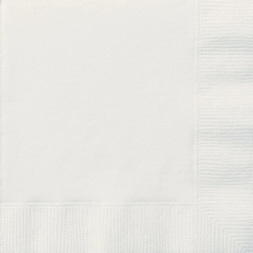 Bright White 20 Lunch Napkins