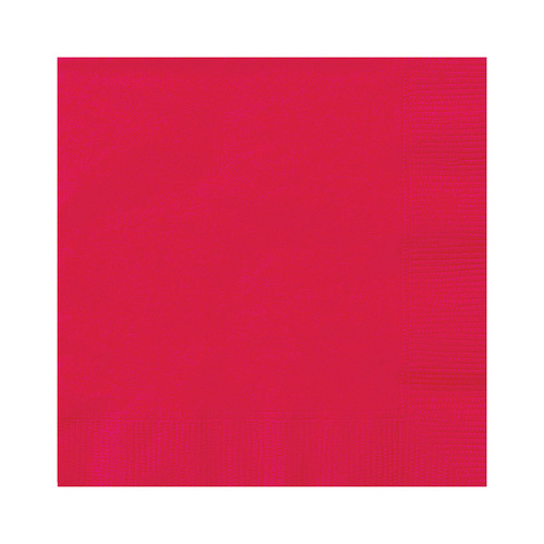 Ruby Red Beverage Napkins 2ply 20 Pack