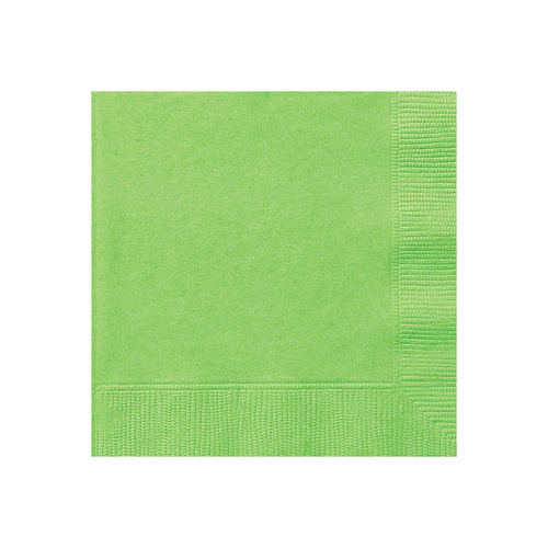 Lime Green Beverage Napkins 2ply 50 Pack