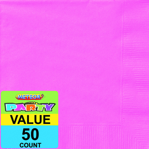 Hot Pink Luncheon Napkins 2ply 50 Pack