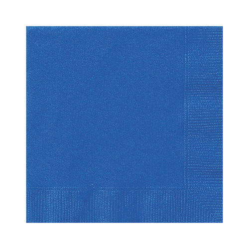 Royal Blue Beverage Napkins 2ply 20 Pack