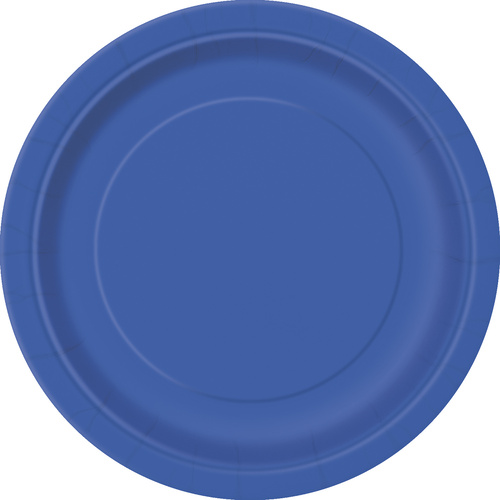 Royal Blue Paper Plates 23cm 8 Pack
