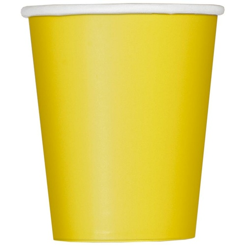Sunflower Yellow Paper Cups 270ml 14 Pack