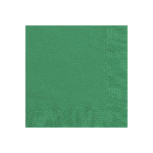 Emerald Green Beverage Napkins 2ply  20 Pack