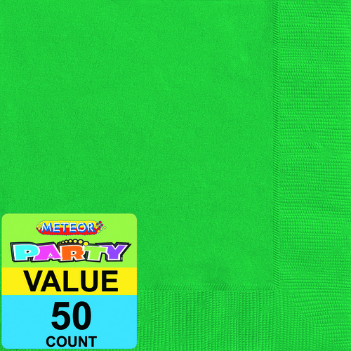 Emerald Green Beverage Napkins 2ply 50 Pack