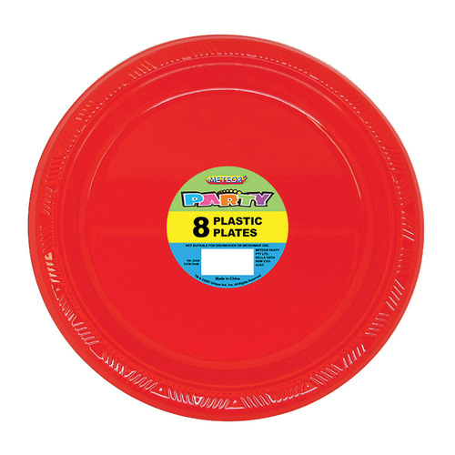 Ruby Red 8 x 9 Plastic Plates