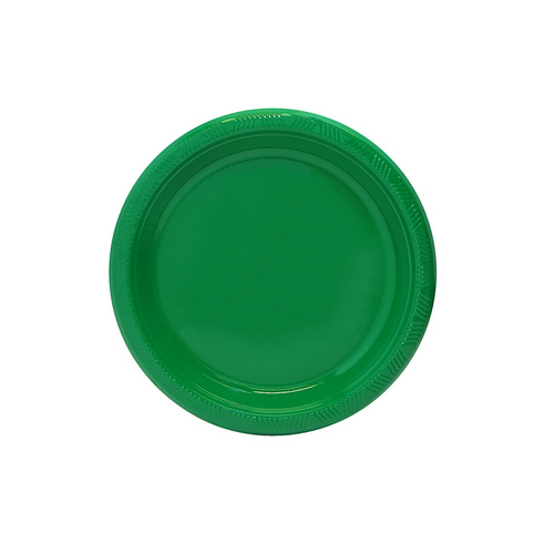 Emerald Green 18cm 12 Pack Plastic Plates