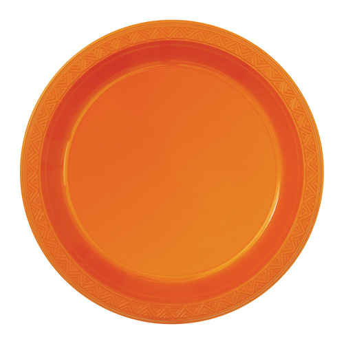 Orange Plastic Plate 6pk x 25cm