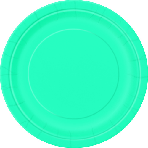 Caribbean Teal 16 x 9 Paper Plate