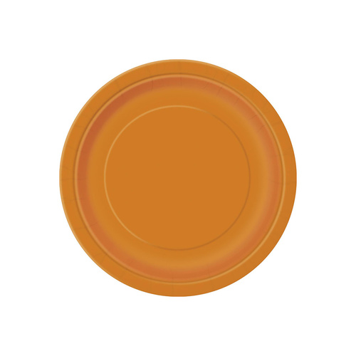 Pumpkin Orange Paper Plates 23cm 8 Pack