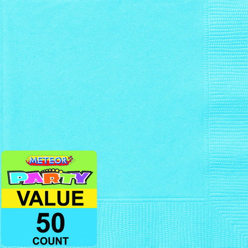 Powder Blue Beverage Napkins 2ply 50 Pack