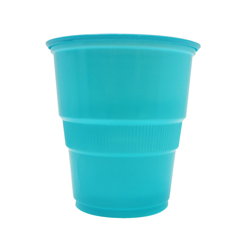 Caribbean Teal Plastic Cups 270ml 12 Pack