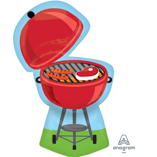 SuperShape XL Red Grill BBQ Foil Balloon