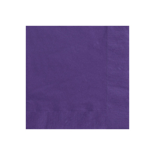 Deep Purple Beverage Napkins 2ply 20 Pack
