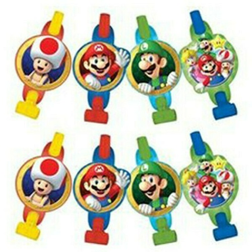 Super Mario Brothers Blowouts With Medallions 8 Pack