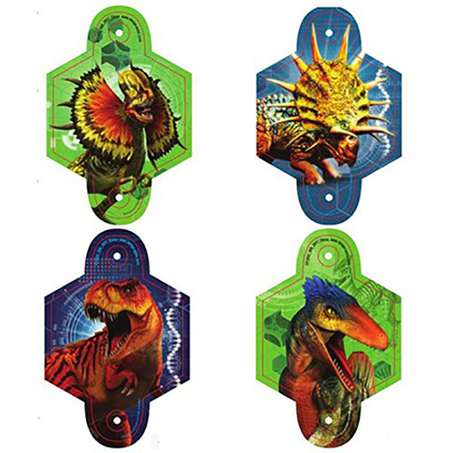 Jurassic World Blowouts With Medallions 8 Pack