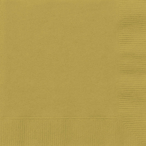 Gold Beverage Napkins 2ply 20 Pack