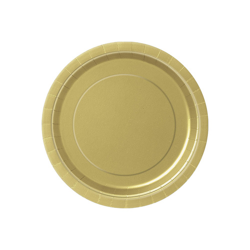 Gold 8 x 9 Paper Plates