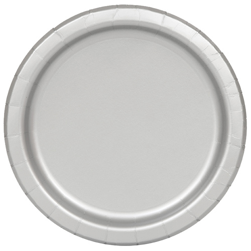 Silver 16 x 9 Paper Plates