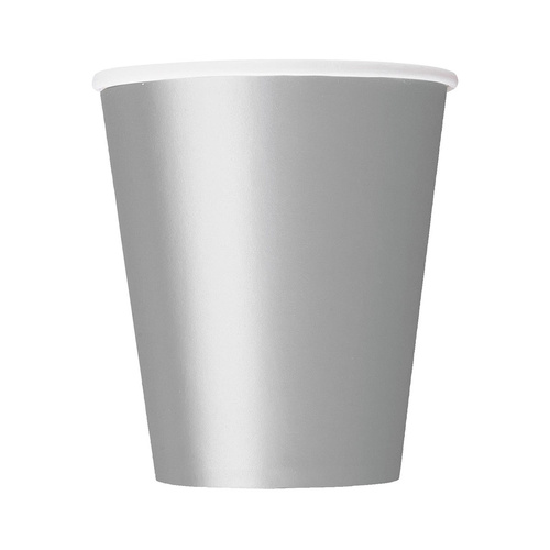 Silver Paper Cups 270ml 8 Pack