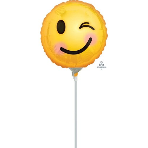10cm Winking Emoticons Foil Balloon